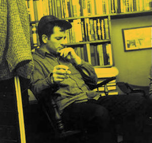 Jack Kerouac in Fred W. McDarrah's New York apartment, Dec. 10, 1959
