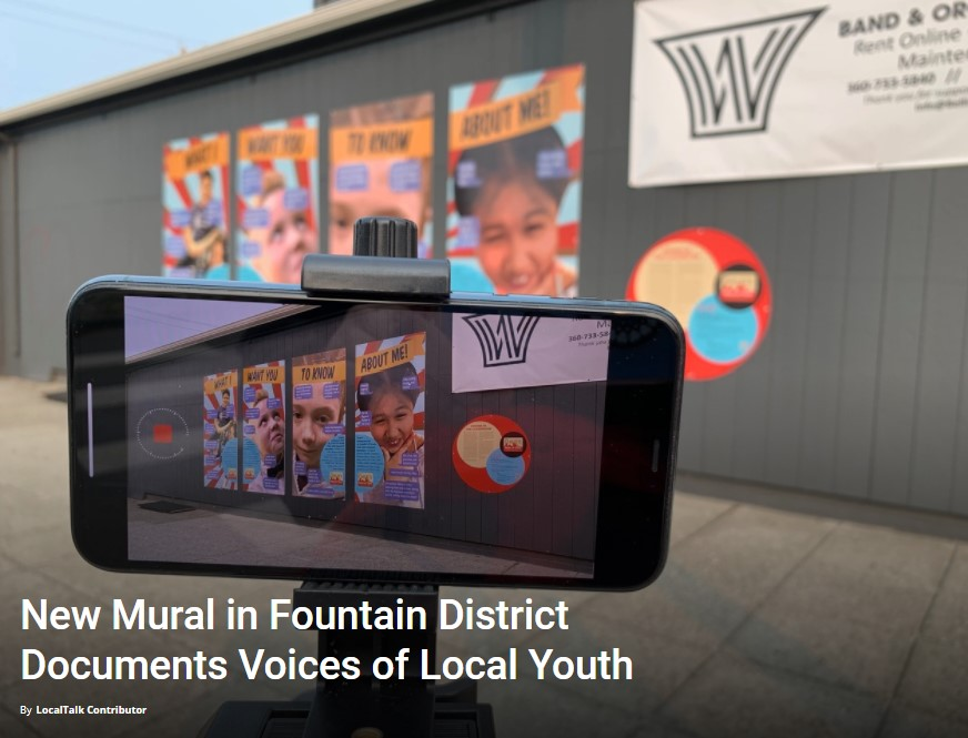 New Mural in Fountain District Documents Voices of Local Youth