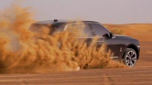 """Rolls-Royce Cullinan shows its chops on the Arabian sand dunes and exemplifies """"effortless everywhere"""" motto with its trademarked """"Magic-Carpet Ride"""", even offload"""