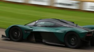 Aston Martin Valkyrie, 1,160HP from a V-12 and an electric motor. Revs to over 11,000RPM!