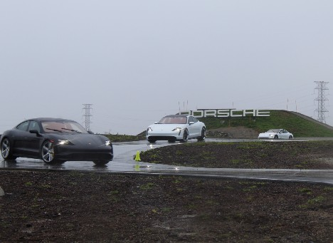 A rainy day at the Porche Experience Center (PEC) in Los Angeles was a blast!